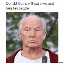 Meme Images Without Text - donald trump without a wig and fake tan people memes comm wigs