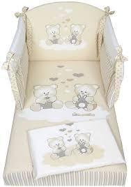 paracolpi e piumone paracolpi lettino con orsetti nanan articoli per l infanzia