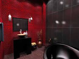 bathroom tubs and sinks red and black bathroom red and black