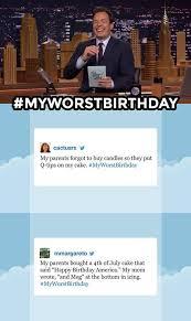 Meme Hashtags - my worst birthday hashtags jimmy fallon know your meme