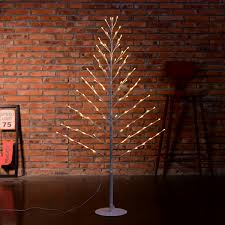 Lighted Twigs Home Decorating 4ft 96 Led Pre Lit Flat Twig Christmas Tree Warm White Lighted