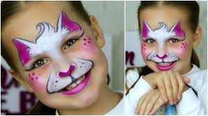 halloween kitty face super fast u0026 easy kitty cat u2014 face painting u0026 makeup for kids