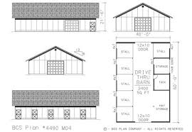 House Barn Plans Horse Barn W Living Space Plans Expandable To Unlimited Stalls Or