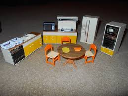 Kitchen Dollhouse Furniture vintage tomy miniature dollhouse furniture w record player