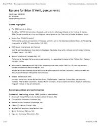 Sample Music Resume For College Application Enchanting Music Resume Example Resume Template For College