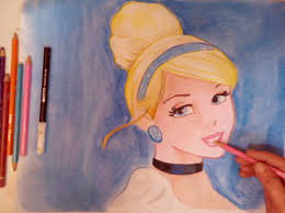 images color pencil drawings cinderella draw