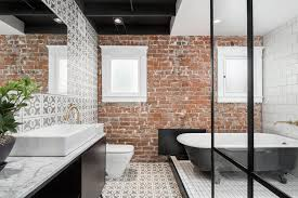 exposed brick wall modern bungalow style