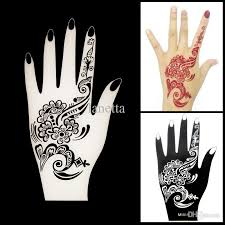 wholesale new henna hand tattoo stencil flower lace glitter