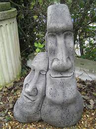 easter island heads lean on me garden ornament ebay