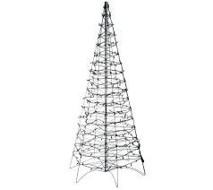 pre lit led fold flat outdoor tree by lori greiner