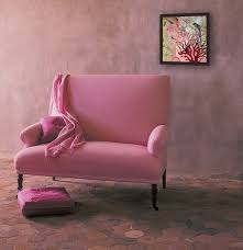 furniture small pink fabric sofa with square pink cushions chic
