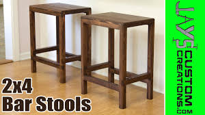 How To Make Furniture by How To Make A Half Lap Bar Stool From 2x4s Jays Custom Creations