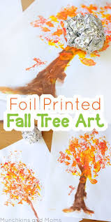 foil printed fall tree preschool projects fall