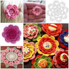 button flowers wonderful diy crochet button flowers