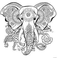 Coloriage Elephant Anti Stress Adulte dessin