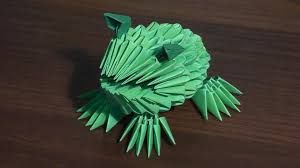 3d origami beginner tutorial 3d origami frog toad tutorial for beginners youtube