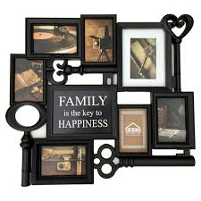 24 x 22 in family is key black collage frame at home at home