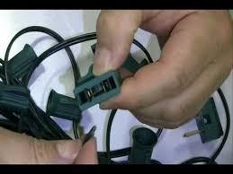 electrical plugs installation for custom led light strings socket