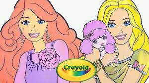 speed coloring barbie glitter coloring book w crayola color