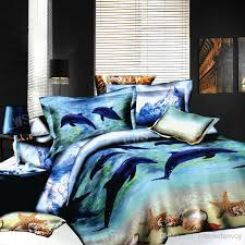 Bedroom Sheets And Comforter Sets 3d Dolphin Starfish Seashell Bedding Bed Set Oil Painting Full