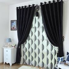 And Black Fabric For Curtains Blackout Curtains Drapes For Bedroom Black Fabric For Curtain