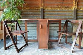 Drop Leaf Table With Chairs Drop Leaf Gate Leg Table 4 Folding Chairs Stored Inside The Table