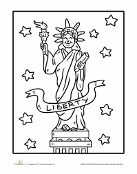 statue of liberty coloring page worksheets liberty and social