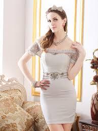 elegant women boat collar ruffles perspective empire waist