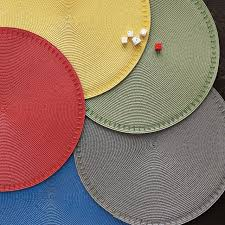 outdoor placemats for round table beaded round placemats west elm