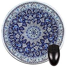 Round Persian Rug Amazon Com Navy Persian Oriental Rug Mat Round Mouse Pad