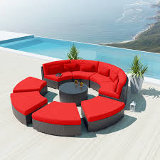Hampton Bay Sectional Patio Furniture - large round cushions for outdoor furniture
