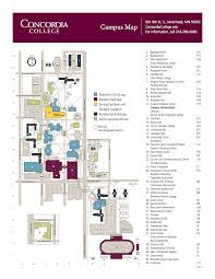 Usa Campus Map by Campus Map Concordia College