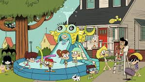 house pool party image s1e08a pool party out front png the loud house