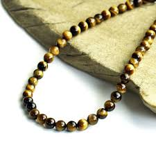 black necklace stone images Mysta 6mm tiger eye beads necklace men thunk pull power stone jpg