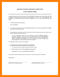 4 board meeting minutes template article examples