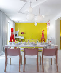 apartment small conceptual apartment dominated with yellow color