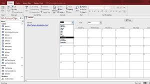 microsoft access calendar form template access database