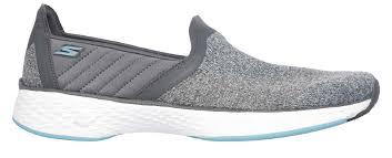 skechers go walk sport slip on shoes womens 14140 gybl grey blue