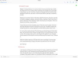 review ulysses 2 5 for ipad and now iphone u2013 macstories