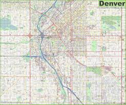 Map Of New Mexico And Colorado by Denver Maps Colorado U S Maps Of Denver