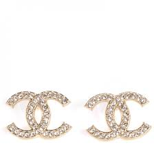 cc earrings chanel cc earrings gold 75799