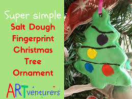 salt dough christmas tree ornaments artventurers
