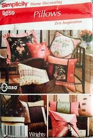 simplicity 0659 pillows in various styles pattern uncut size 16