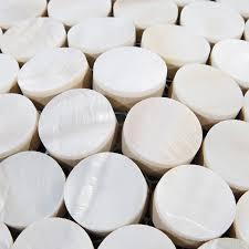 cuisine de perle tour mère de perle dosseret de mosaïque coquille blanche pas