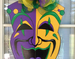 mardi gras door decorations wooden signs custom request welcomed by samthecrafter on etsy