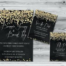black and gold wedding invitations black and gold invitations ryanbradley co