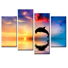 Canvas Painting For Home Decoration by Compare Prices On Dolphin Wall Art Online Shopping Buy Low Price
