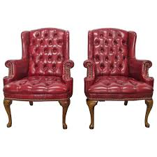 tufted leather wingback chair u2013 coredesign interiors