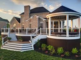 split level front porch designs decks raised vs grade level hgtv