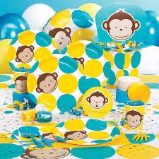 Modern Mommy Baby Shower Theme - monkey birthday party decoration ideas image inspiration of cake